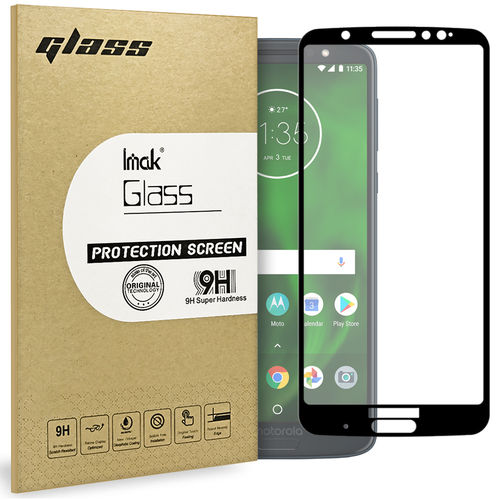 Full Tempered Glass Screen Protector - Motorola Moto G6 Plus - Black